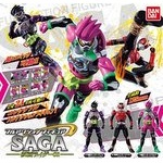 Full Action Figure Saga Kamen Rider 01 Set of 3 (Gashapon) [Bandai]