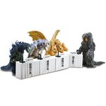 Godzilla Toho Kaiju Press Conference Set of 4 (Gashapon) [Bandai]