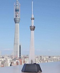 Tokyo Sky Tree 1/2400 Scale Snap-Together Model Kit [Bandai]