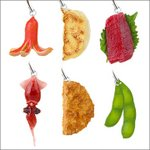 Food Sample Series Strap Part 2 Set of 6 (Gashapon) [Takara Tomy]