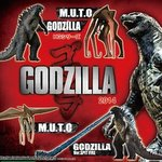 HG Godzilla 2014 Gashapon Capsule Toy Full Set of 4 [Bandai]