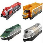 Tokkyuger Tokkyu Ressha Gashapon Part 01 Set of 4 [Bandai]