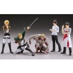 Capsule One Attack on Titan Real Figure Collection Series 2 Set of 5 [Kaiyodo]