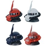 Mobile Suit Gundam EXCEED MODEL ZAKU HEAD 2 Set of 4 (Gashapon) [Bandai]