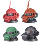 Mobile Suit Gundam EXCEED MODEL ZAKU HEAD 3 Full Set of 4 (Gashapon) [Bandai]