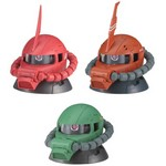 Mobile Suit Gundam EXCEED MODEL ZAKU HEAD 3 Partial Set of 3 (Gashapon) [Bandai]