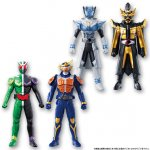 Kamen Rider Gaim Sofubi Soft Vinyl Hero Candy Toy Part 1 Set of 4 [Bandai]