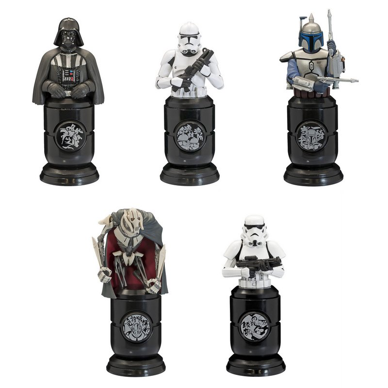 Star Wars Stamp Figure Candy Toy Set of 5 [F-Toys]