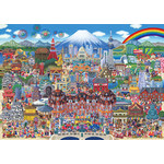 Japan Tourist Attractions Jigsaw Puzzle (300 pcs, 38 x 26 cm) [Beverly]
