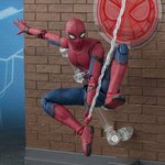 S.H.Figuarts Spider-Man (Homecoming) & Tamashii Option Act Wall Set (Damaged Box) [Bandai]