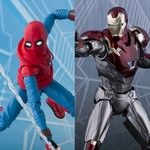 S.H.Figuarts Spider-Man Homecoming Home Made Suit Ver. & Iron Man Mark 47 Set [Bandai]