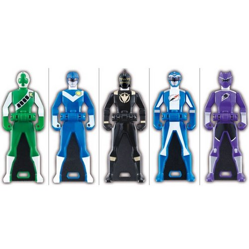 Gokaiger Ranger Key Candy Toy Part 5 Set of 5 [Bandai]