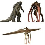 HG Godzilla 2014 Gashapon Capsule Toy Partial Set of 3 [Bandai]