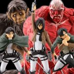 Capsule One Attack on Titan Real Figure Collection Series 1 Set of 5 [Kaiyodo]