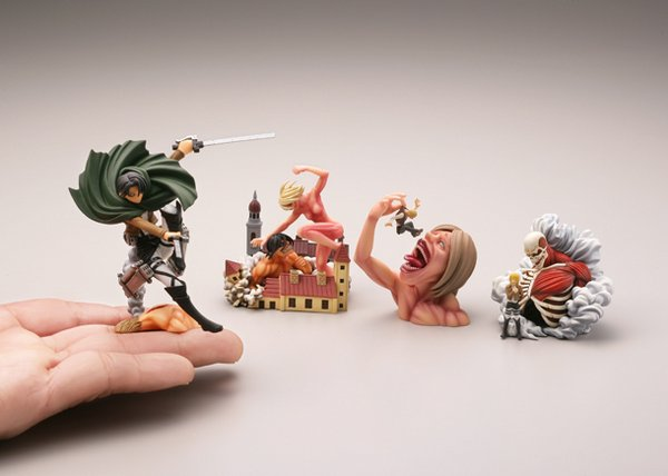 Capsule Q Attack on Titan Vignette Series 2 Set of 4 [Kaiyodo]