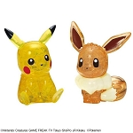 Pikachu & Eevee Crystal Puzzle (48 Pieces) (Pokemon) [Beverly]