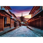 Evening Glow on Yasaka Dori Jigsaw Puzzle (500 pcs, 53 x 38 cm) [Yanoman]