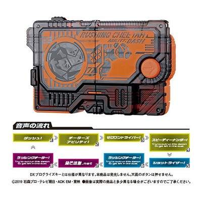 Kamen Rider Zero-One GP Progrise Key 01 - Rushing Cheetah Progrise Key (Gashapon) [Bandai]