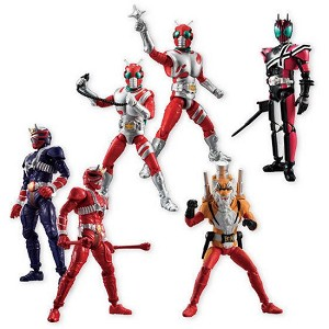 SHODO Kamen Rider VS Series 8 Complete Set of 6 (Candy Toy) [Bandai]