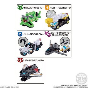 Lupinranger VS Patranger Mini-Pla VS Vehicle Gattai Series 03 Set of 5 [Bandai]