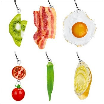 Food Sample Series Breakfast Strap Set of 6 (Gashapon) [Takara Tomy]